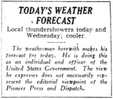 Forecast Disclaimer