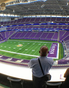 Vikings   bank stadium  degree view from the field also rh twincities