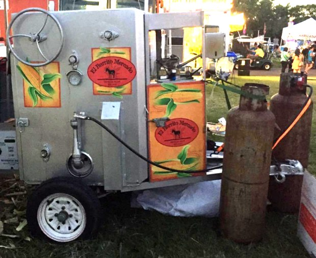 Undated courtesy photo of the corn roaster stolen July 17, 2016 from the El Burrito Mercado in St. Paul. (Courtesy photo)