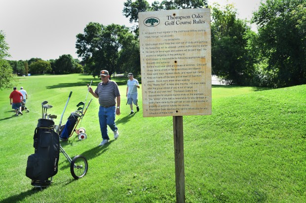 Golfers play the course at Thompson Oaks Golf Course in West St. Paul on Thursday, July 21, 2016. Like many local golf courses, Thompson Oaks has seen fewer golfers over the past few years because of bad weather, the recession, an abundance of competition for players' time and waning participation in the sport. A little more than 12,000 rounds were played in 2015, which was down from 15,000 in 2009 -- the peak year in the past decade. (Pioneer Press: Jean Pieri)