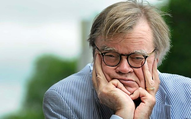 "Garrison Keillor of ""A Prairie Home Companion"" is 74. The St. Paulite is wearing seersucker  for the National Public Radio show's three-day 40th anniversary celebration in July. (Pioneer Press: Jean Pieri)"