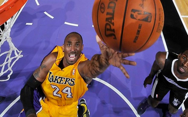 Los Angeles Lakers star Kobe Bryant is 38. (Getty Images: Rocky Widner)