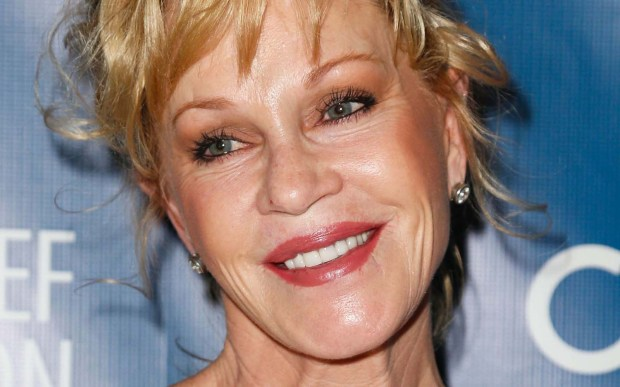 Melanie Griffith, 59, is an American actress who was nominated for an Academy Award and won a Golden Globe for her performance in the film Working Girl. (Getty Images: Imeh Akpanudosen)