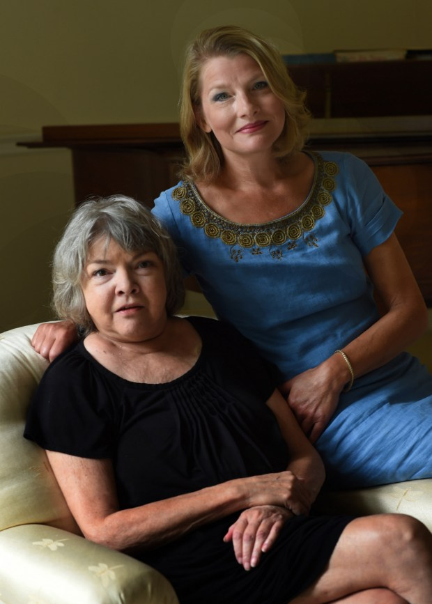 P. J. Lambrecht, left, and her daughter Traci write thrillers together from their office near Stillwater under the pseudonym P.J. Tracy, photographed Tuesday, August 23, 2016. (Pioneer Press: Scott Takushi)