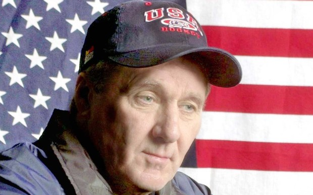 """The late hockey great Herb Brooks, a St. Paul native and Gophers standout who coached the gold medal-winning U.S. Olympic hockey team at Lake Placid, was born on this day in 1937. He was portrayed in movies by actors Karl Malden (""""Miracle on Ice"""") and later Kurt Russell """"Miracle."""" He died in 2003, a year after this photo was taken. (Pioneer Press archives)"""