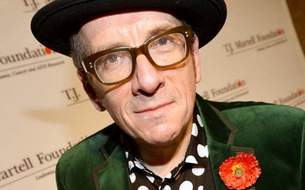 All that useless beauty. Rocker Elvis Costello is 62 and dad of young twins with jazz singer and musician Diana Krall. (Getty Images: Rick Diamond)