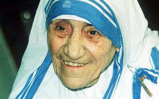 Mother Teresa was born on this day in 1910. The Albanian nun and future saint dedicated her life to the poor, the destitute and the sick of Calcutta, earning the Nobel Peace Prize in 1979. She's pictured in 1995, four years before her death. Her beatification is the shortest in modern history. (STR/AFP/Getty Images)