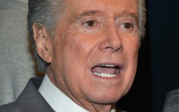 There he is, talking. TV personality Regis Philbin is 85. (Getty Images: Eugene Gologursky)