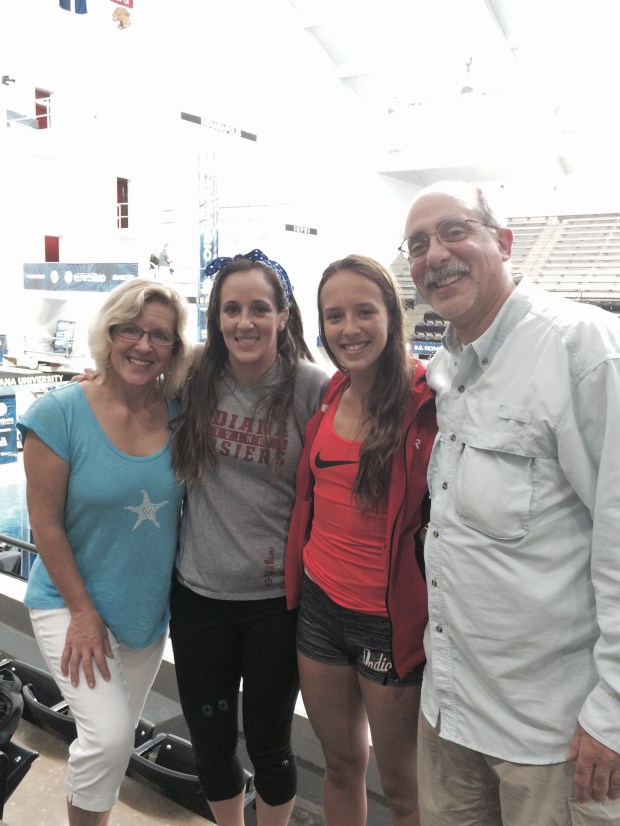 An undated photo of the Parratto family: Amy, from left, Melissa, Jessica and Mike. While Mike and Amy have coached the Riptide Swim Team in Apple Valley for the last six years, the entire family is in Rio this week to watch Jessica dive in the Olympic Games. (Courtesy photo)