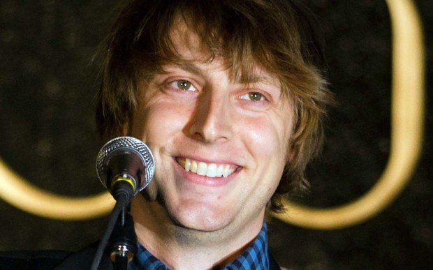 Singer-songwriter Eric Hutchinson is 36. (Associated Press: Charles Sykes)