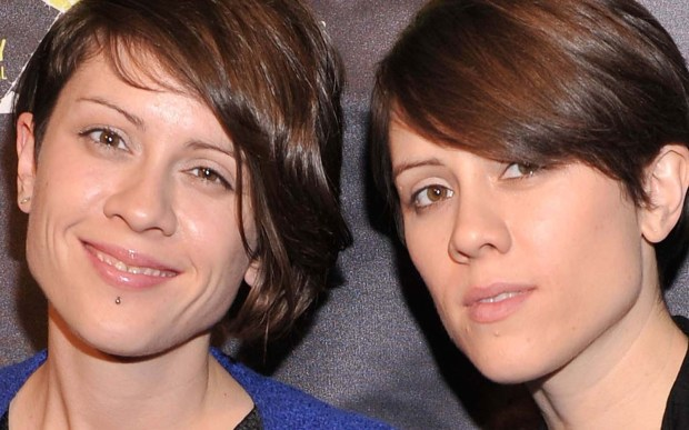 Singers Tegan, left, and Sara Quin of Tegan and Sara are 36. (Getty Images: Stephen Lovekin)