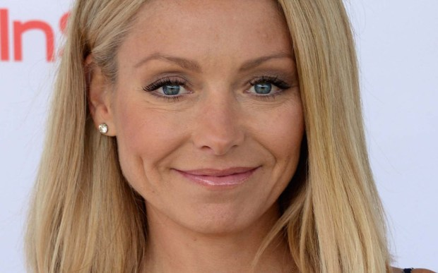"Talk-show host Kelly Ripa is 46. While hosting ""Saturday Night Live"" in 2003, the ever-perky Jersey girl joked that her hair-color product contains crack cocaine, says People.com. (Getty Images: Andrew H. Walker)"