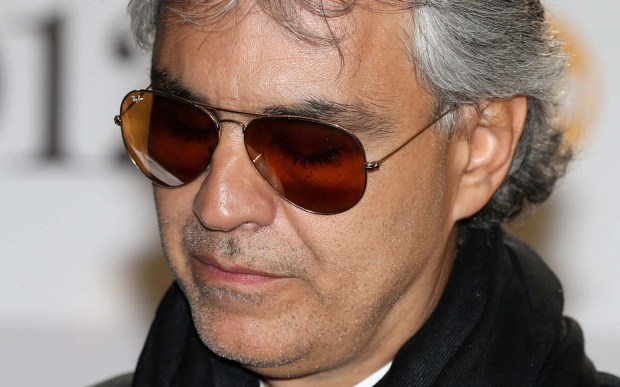 Andrea Bocelli is 58. (Getty Images: Chris Jackson)