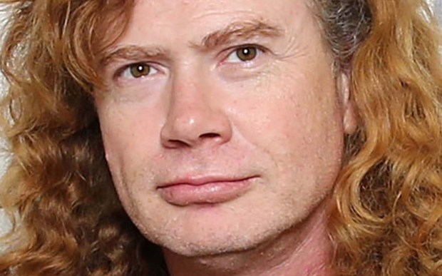Singer-guitarist Dave Mustaine of Megadeth is 55. (Getty Images: Neilson Barnard)