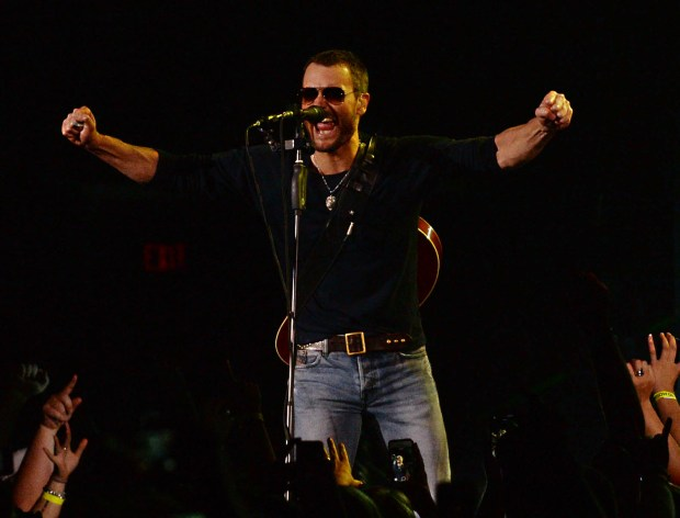 Eric Church plays to a packed Target Center in 2014. (Pioneer Press: John Autey
