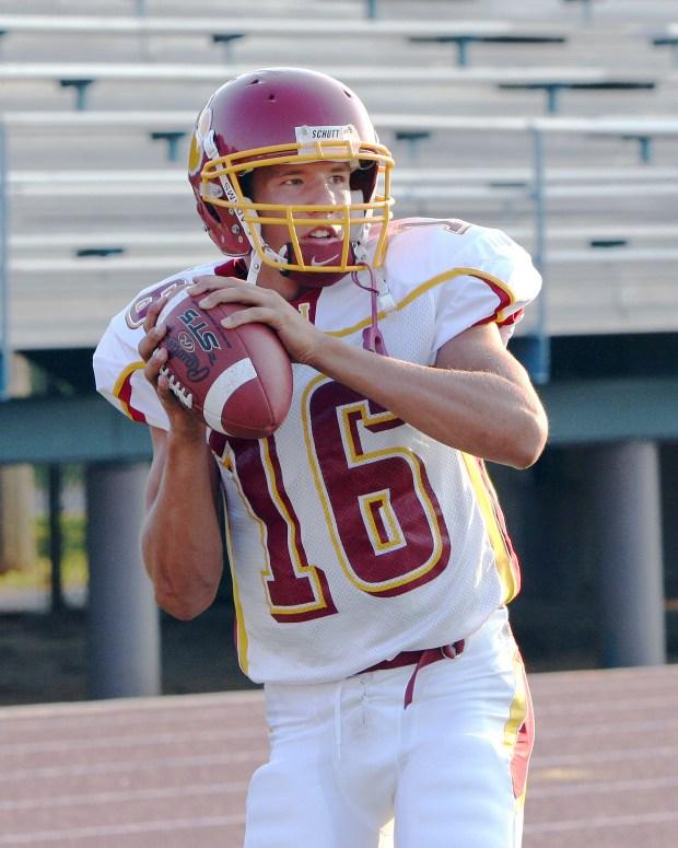 Sam Bradford as a star quarterback at Putnam City North High School in Oklahoma City. Bradford now plays quarterback for the Minnesota Vikings. (Photo courtesy Of Richard T. Clifton, Oklahoma City, Oklahoma)