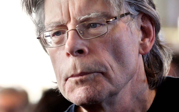 "Author Stephen King is 69. His chilling novel ""The Shining"" will be interpreted in 2016 by the Minnesota Opera — yes, opera. Red rum! (Getty Images: Kenzo Tribouillard)"
