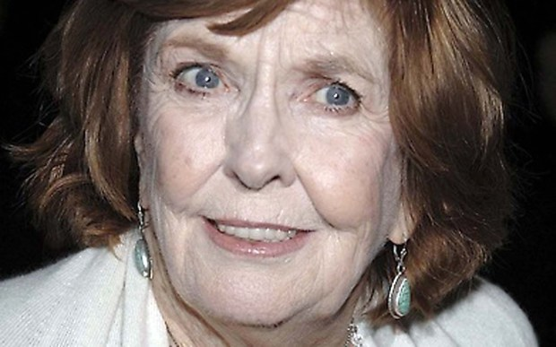 """Comedian Anne Meara was born on this day in 1929. She died in May 2015 at age 85. Her most recent work was with Ben and Jerry — her son, Ben Stiller, and husband, Jerry Stiller — on """"Stiller & Meara: A Show About Everything,"""" shot in the living room of their New York apartment and shown on Hulu. (Associated Press: Evan Agostini)"""