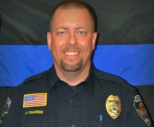 Avon Police Officer Jason Falconer. Officer Jason Falconer is a part-time police officer with his department. Falconer was off duty on Saturday night when he shot and killed the mall stabbing suspect inside the Macy's Department Store at Crossroads Center Mall in  St. Cloud. (Photo ctsy Avon Police Dept)