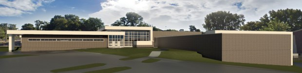 A rendering of the new St. Paul Public Safety Training Facility. It's due to open October 2017 and the groundbreaking was Thursday, Sept. 29, 2016. Image courtesy of the St. Paul Port Authority.