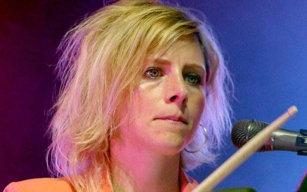 Neon Trees drummer Elaine Bradley is 32. (Associated Press: Owen Sweeney)