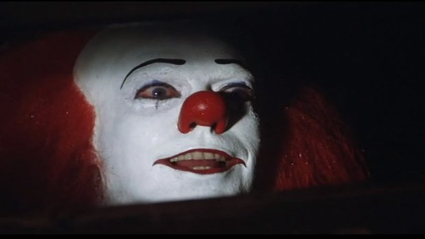 "The clown Penneywise the Dancing Clown, in a scene from the 1990 of the ABC miniseries ""It,"" based on the Stephen King horror novel. A movie remake is scheduled for 2017 via New Line Cinema."
