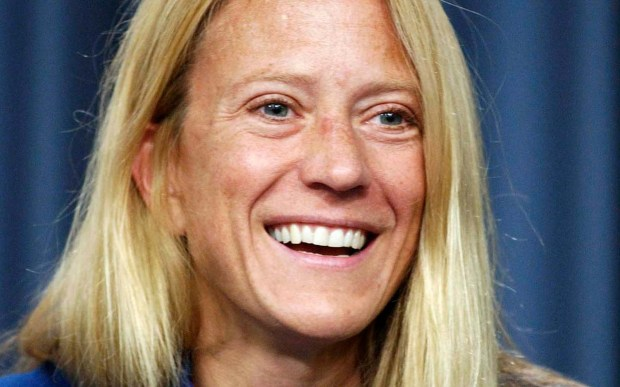 NASA astronaut and Vining, Minn., native Karen Nyberg, PhD, is 47. Click to watch this awesome video of her washing her hair in space. (Associated Press: Peter Cosgrove)