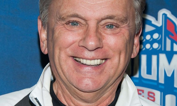 """Wheel of Fortune"" host Pat Sajak is 68. (Photo by Valerie Macon/Getty Images)"