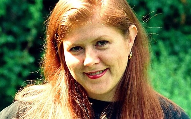 """The late singer Kirsty MacColl was born on this day in 1959. She had a solo career and a big hit with """"Fairytale of New York"""" with the Pogues. Also, check out this song, ladies who love shoes. She died in a boating accident in 2000. (Courtesy of gilbertblecken.wordpress.com)"""