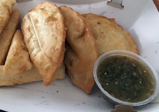 Oct. 20, 2016 photo of the basic empanadas at Pollo Campero. (Pioneer Press: Jessica Fleming)