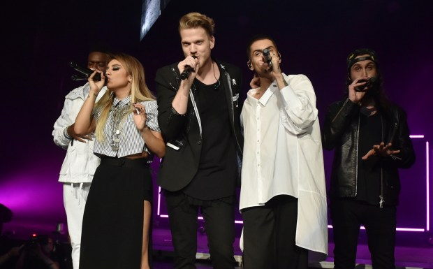 Pentatonix, a cappella group out of Texas, performs at Xcel Energy Center on Wednesday, Oct. 26, 2016. (Pioneer Press: John Autey)