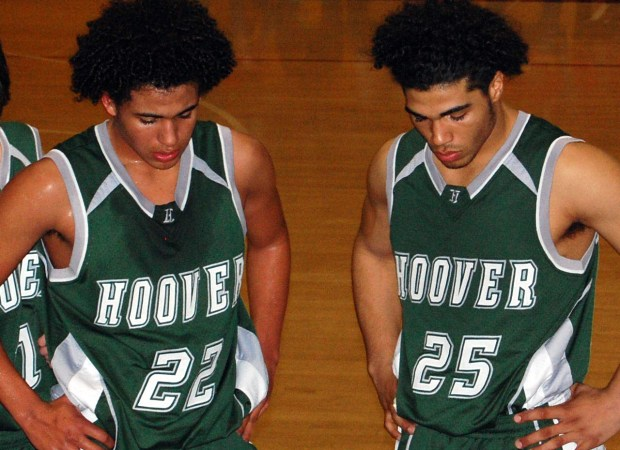 Undated courtesy photo of brothers Eric, left, and Mychal Kendricks, playing high school basketball in Fresno, Cali. The two will face each other in an NFL football game on Sunday, Oct. 23, 2016 in Philadelphia. Eric, 24, plays linebacker for the Minnesota Vikings, older brother Mychal, 26, plays linebacker for the Philadelphia Eagles. Photo courtesy of the Philadelphia Eagles.