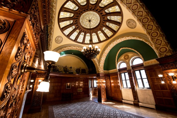 "The Chief Justice Room of the Landmark Center in St. Paul is seen Aug. 22, 2016. ""This is the fanciest room in the building,"" said Amy Mino, director of the Landmark Center. (Pioneer Press: Andy Rathbun)"