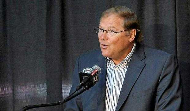 Minnesota Wild owner Craig Leipold speaks during a news conference on July 9, 2012, at Xcel Energy Center in St. Paul. (Hannah Foslien/Getty Images)