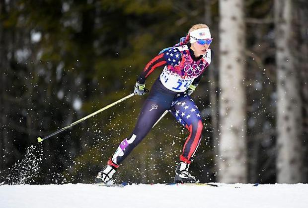 SOCHI, RUSSIA - FEBRUARY 11: Jessica Diggins of the United States competes in Qualification of the Ladies' Sprint Free during day four of the Sochi 2014 Winter Olympics at Laura Cross-country Ski & Biathlon Center on February 11, 2014 in Sochi, Russia. (Photo by Harry How/Getty Images)