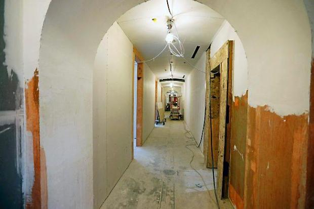 The hallway to House members' offices is shown Aug. 18 as restoration of the Minnesota State Capitol continues in St. Paul, Minn. (AP Photo/Jim Mone)