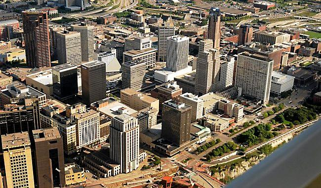 Downtown St. Paul, in August 2015. (Pioneer Press: Scott Takushi)