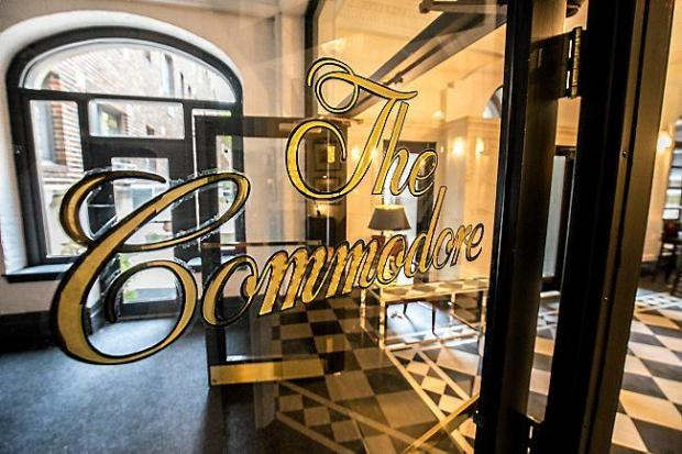 The Commodore Bar and Restaurant at 79 Western Ave. N. in St. Paul is set to reopen to the general public Oct. 27. â œThe original bar was restored and the details were very carefully taken from that original bar and embellished in the spaces adjacent,â owner John Rupp said of the art-deco bar built in the 1930s. â œThe whole space now feels like a place that would have been built at that time.â (Pioneer Press: Andy Rathbun)