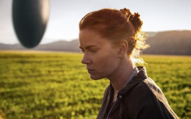 "Amy Adams plays a linguist who must figure out how to communicate with aliens in ""Arrival."" (Paramount Pictures)"