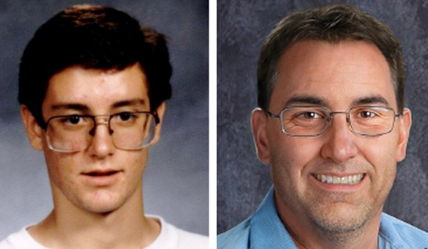 Christopher Kerze at 17 and in an age-progression photo courtesy of the National Center for Missing and Exploited Children.