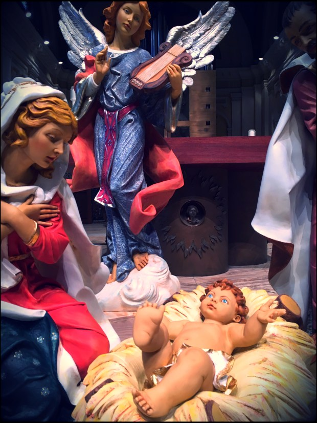 This blue-eyed Baby Jesus will make his public debut on Christmas Eve at St. Thomas. photo: Molly Guthrey