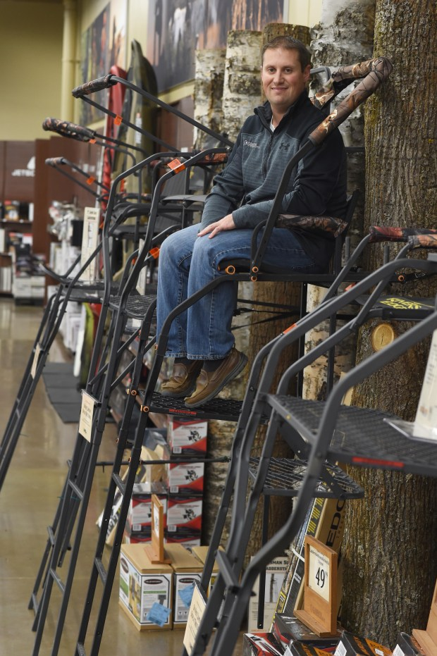 Derek Siddons, President of Gander Mountain, at the Lakeville, Minn. store, Wednesday, November 9, 2016. (Pioneer Press: Scott Takushi)