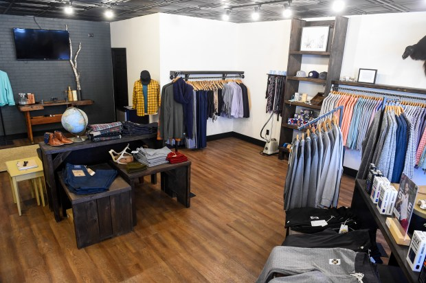 John Henry at 4764 Banning Ave a men's store, one of the newest additions to the downtown shopping in White Bear Lake. (Special to the Pioneer Press: Craig Lassig)