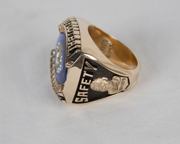 The Hall of Fame Ring of Excellence of former Minnesota Vikings safety Paul Krause. (Courtesy Pro Football Hall of Fame)