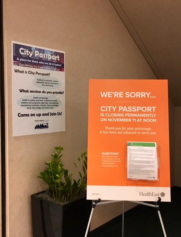 City Passport, a downtown senior center in St. Paul, will close Nov. 11. (Photo: Gabriel Sanchez)