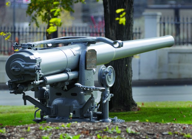 The actual gun manned by reservists from St. Paul who fired first shot in World War II at Pearl Harbor aboard the U.S.S. Ward, located directly west of Veterans Services Building at the state capitol complex. October 20, 2010 (Pioneer Press: Chris Polydoroff)