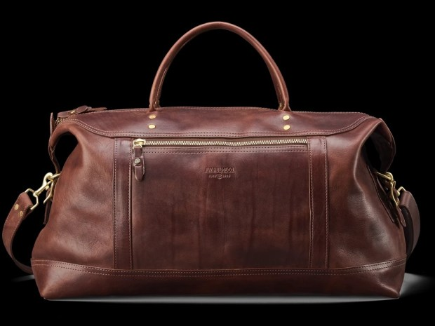 This is your bag if you have $1,475. The large Weekend Satchel by J.W. Hulme is made on West Seventh Street in St. Paul. (Courtesy of J.W. Hulme Co.)