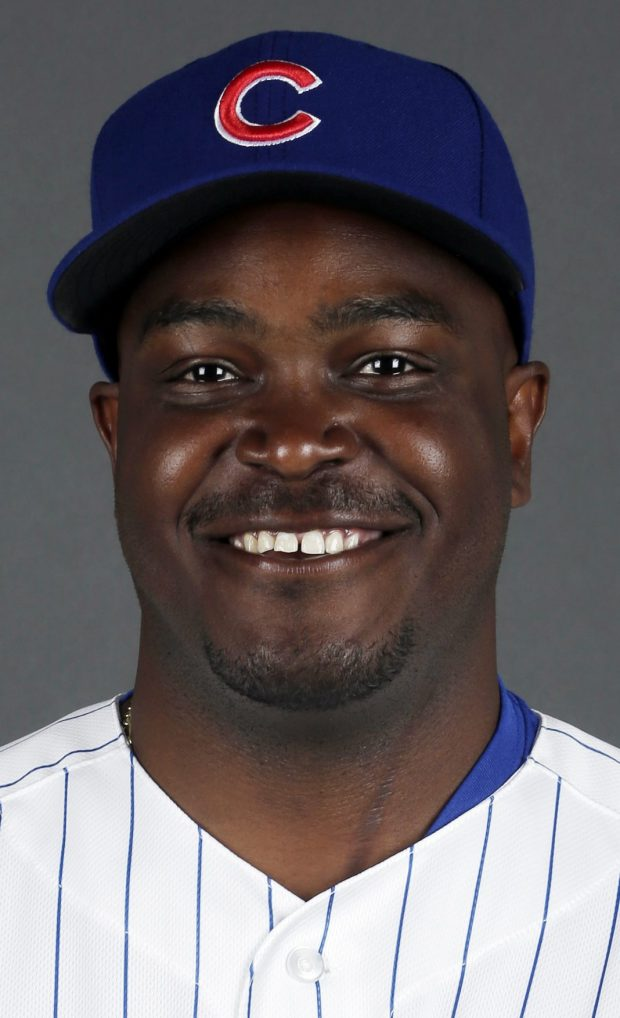 This is a 2013 photo of James Rowson of the Chicago Cubs baseball team. This image reflects the Cubs active roster as of Monday, Feb. 18, 2013. (AP Photo/Morry Gash)