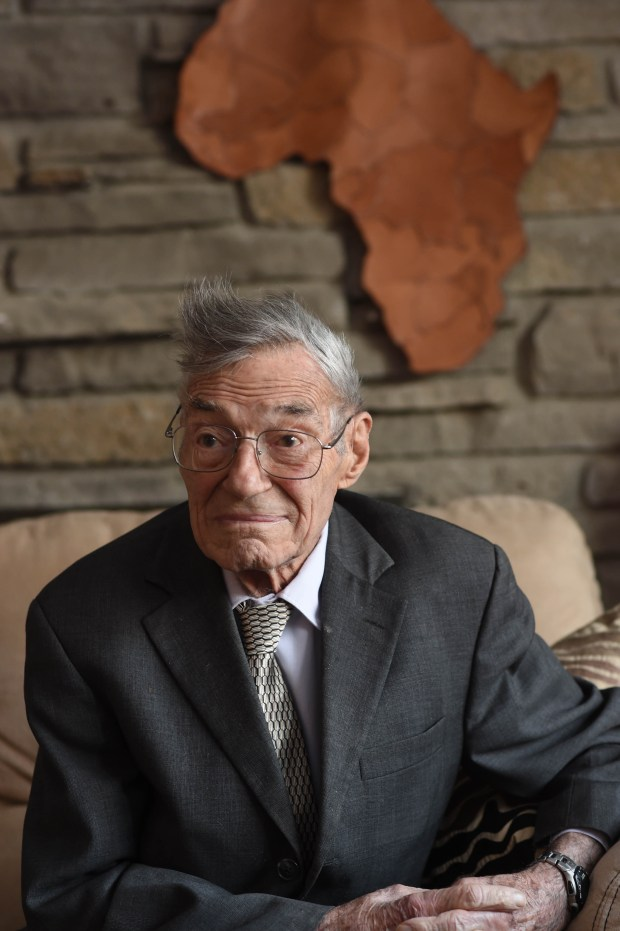 Dr. Helmut Diefenthal, photographed in his Minneapolis home, started a radiology school in Tanzania, and left on another trip to the East African country, Dec. 13, 2016. (Pioneer Press: Scott Takushi)