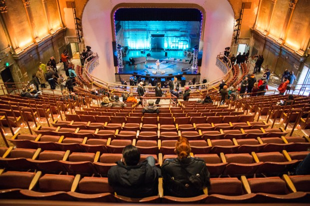 Guests explore the interior renovations of the 100-year-old Palace Theatre in downtown St. Paul on Friday, Dec. 16, 2016. (Pioneer Press: Liam James Doyle)